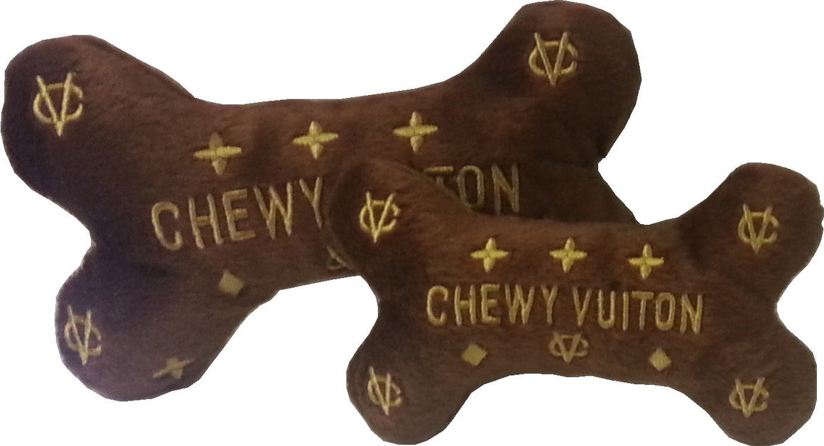 Chewy Vuiton Large Dog Bone Squeak Toy