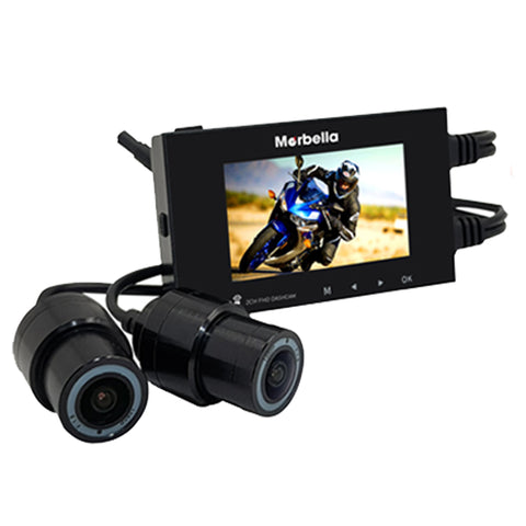 Marbella MT-I Waterproof Dual Channel FullHD+HD Dashcam Recorder - Weikeng Technology Pte Ltd