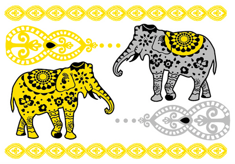 ELLETatts Metallic Tattoos -- Elephantasy