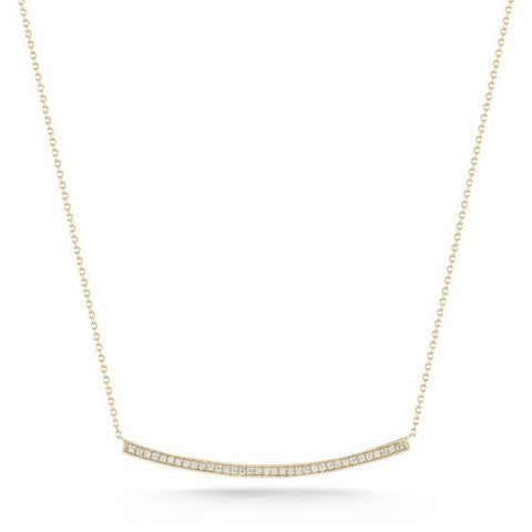 Curved Bar Necklace -- Yellow Gold