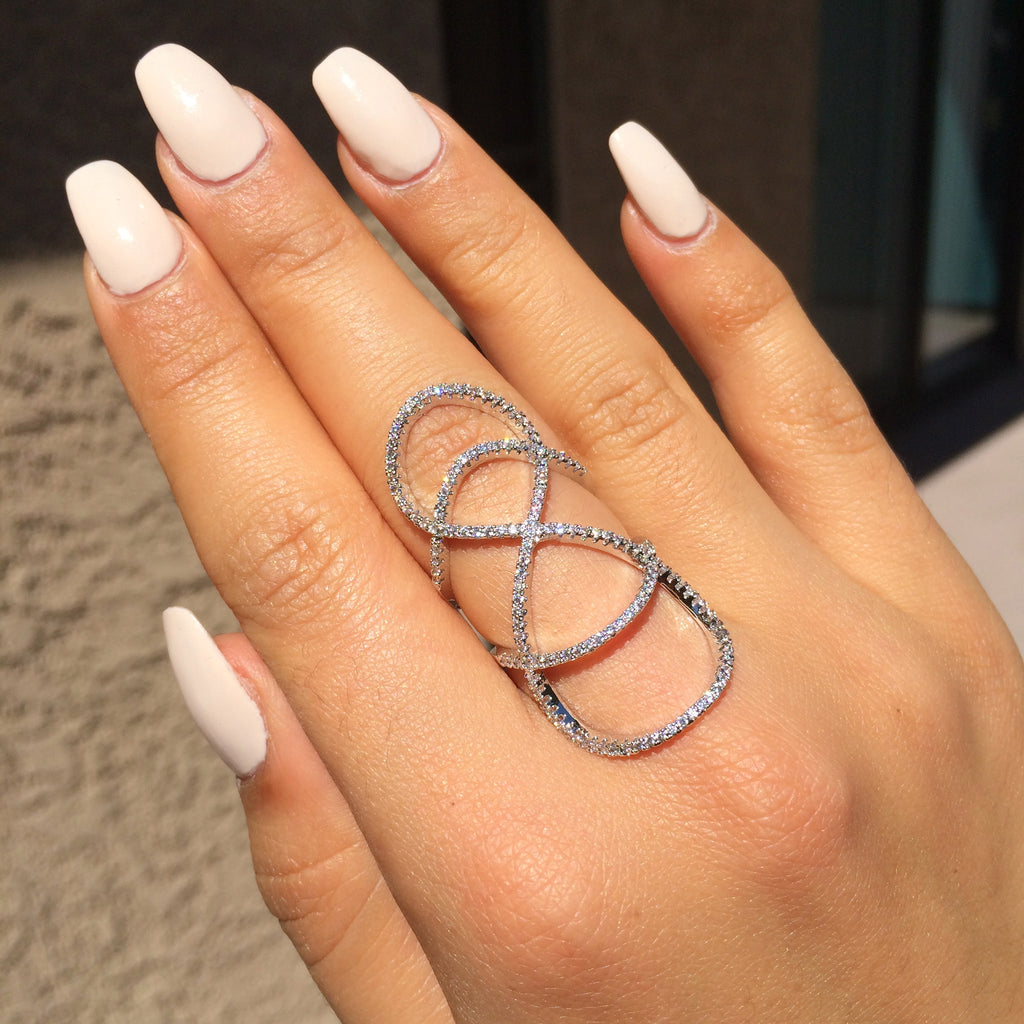 with double ring accents silver infinity engraved custom sterling