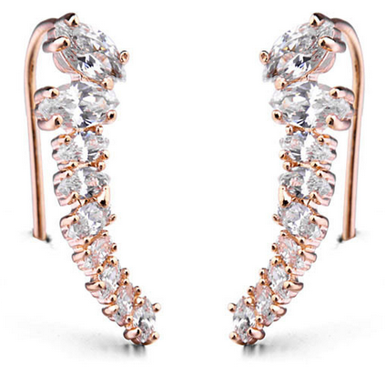 Marquise Floating Ear Cuff -- Rose Gold