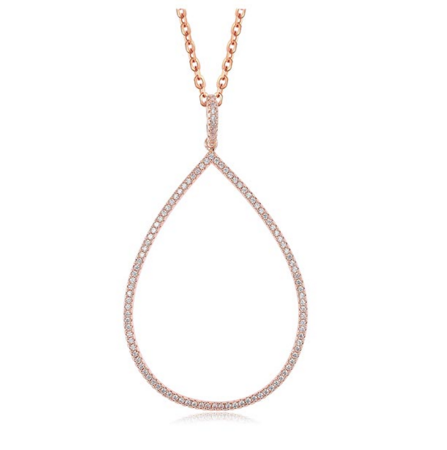 Tear Drop Necklace -- Rose Gold