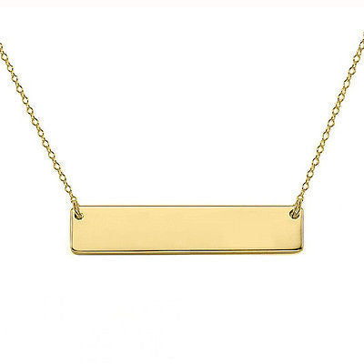 Solid Bar Necklace -- Yellow Gold