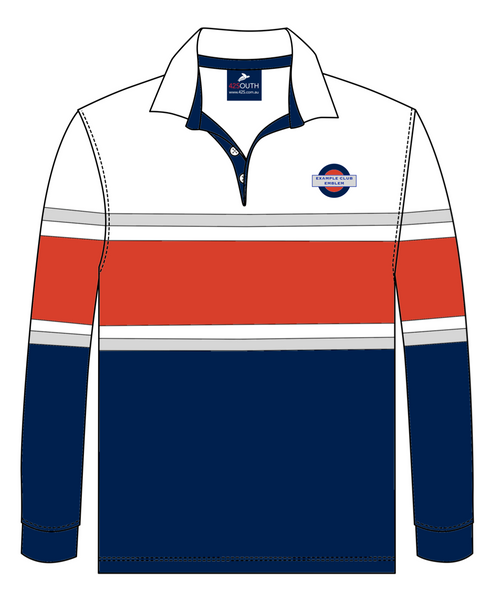 42SOUTH Club Rubgy Jumper with Custom Design