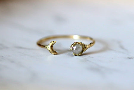 diamond open ring