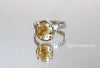 yellow citrine 925silver ring