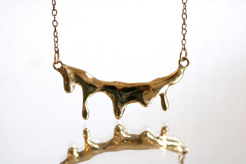 Melted Metal Stream Necklace