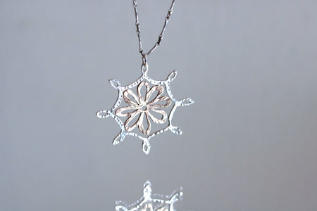 Daisy Long Pendant Necklace