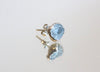 Raw Aquamarine Stud Earrings