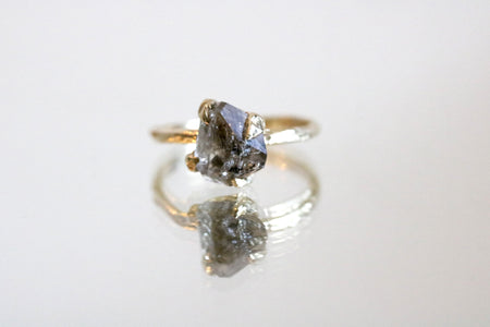 diamond quartz ring