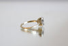 Diamond Quartz Gold Ring