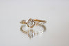 Sliced Moissanite Diamond Gold Ring