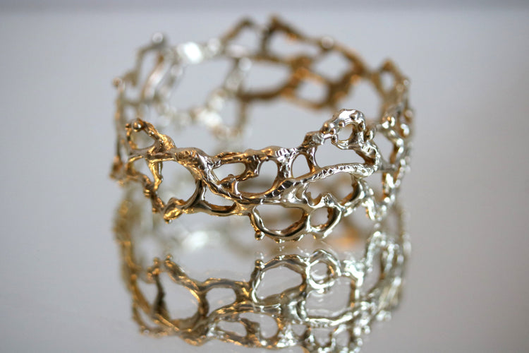 "Organic Lace Bracelet ""Jukai"" Bangle"
