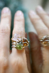 Raw Brown Citrine Vine Ring