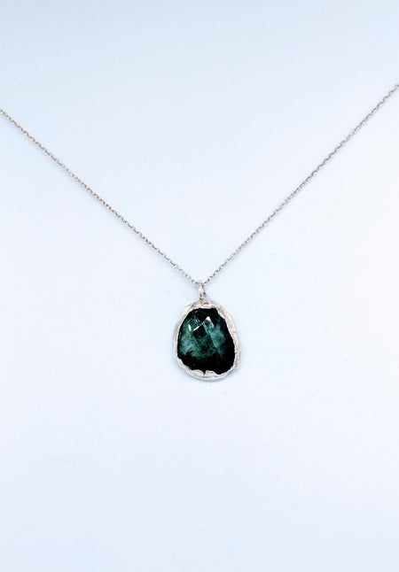 green emerald 925sterling silver