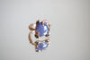 tanzanite pink gold ring size 4.5