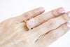 Raw Rose Quartz Gold Solitaire Ring