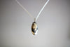 Oval Moon Stone Silver Pendant Necklace