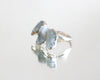 Raw Aquamarine Icicle Silver Ring