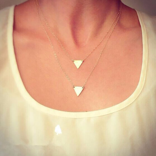 Handmade 3 Layer Chain Bar Necklace