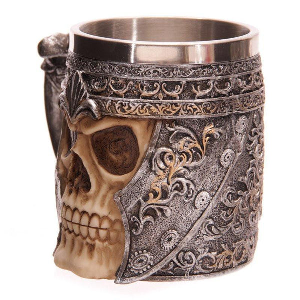 Viking Skull Warrior Beer Mug