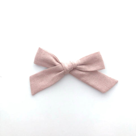 Dusty Rose // Modern Oversized Hand-tied Bow