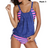 Double Up Tankini Stripe Lined Top Sets Swimsuit