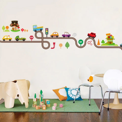 Cars Track Wall Stickers