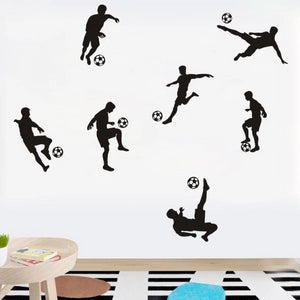 Soccer Figures Wall Stickers For Boy Room
