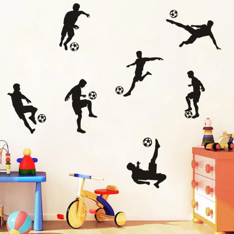 Image of Soccer Figures Wall Stickers For Boy Room