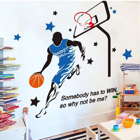Image of Basketball Decal Wall Stickers For Boys