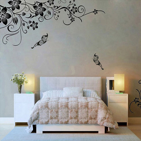 Butterflies Vine Wall Stickers