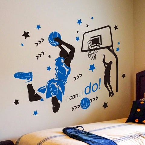 Basketball Decal Wall Stickers For Boys