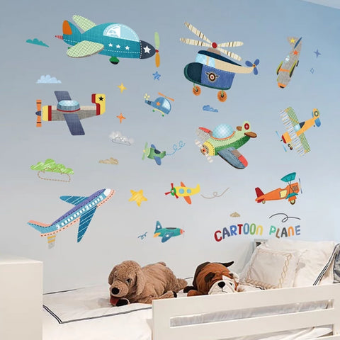 Image of Aircraft Wall Stickers for Kids Rooms