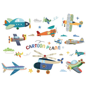Aircraft Wall Stickers for Kids Rooms