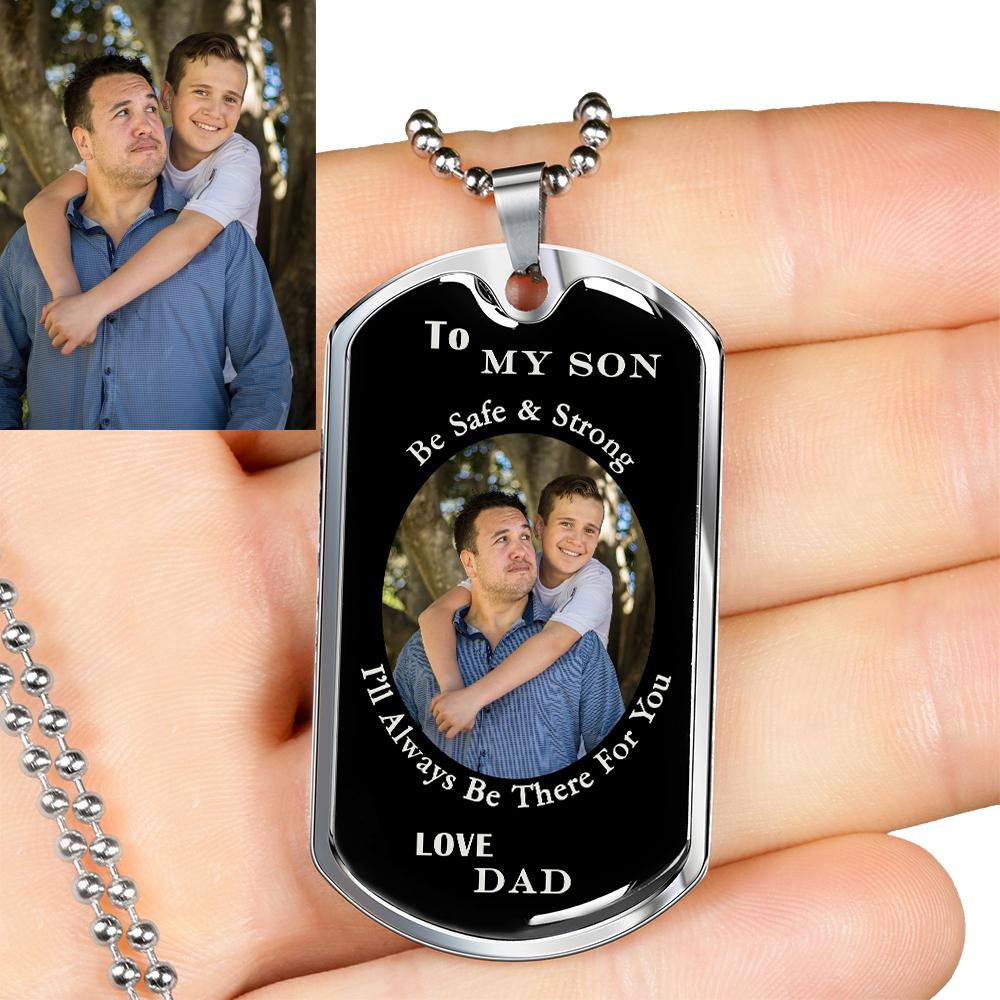 Your Image - Father To Son Necklace