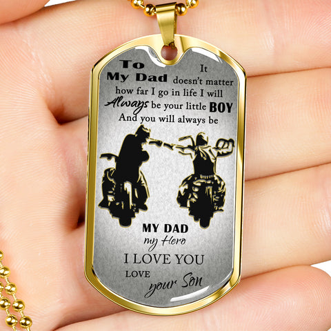 To My Dad Military Tag