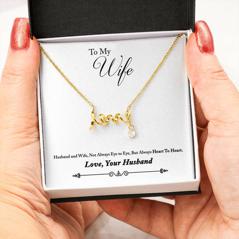 To Wife From Husband Pendant With LOVE