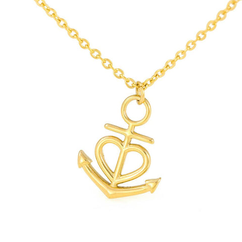 To Daughter from Dad Anchor Heart Necklace