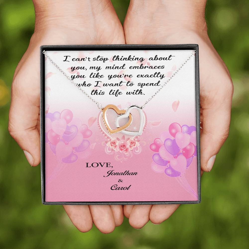 Never Ending Love - Personalized Message Card Names