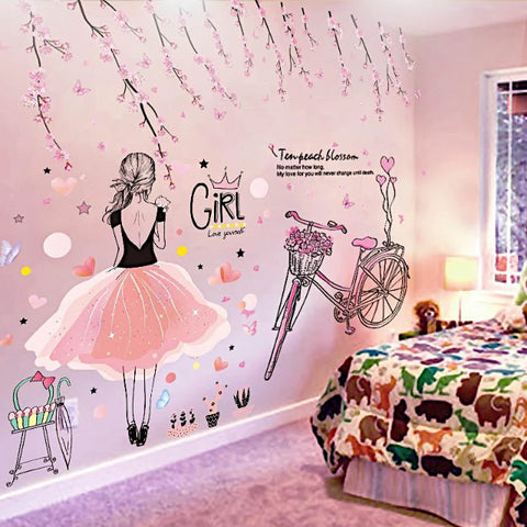 Image of Beautiful Girl Wall Stickers For Kids Rooms