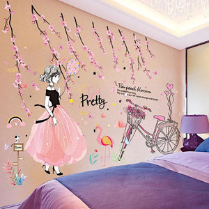 Beautiful Girl Wall Stickers For Kids Rooms