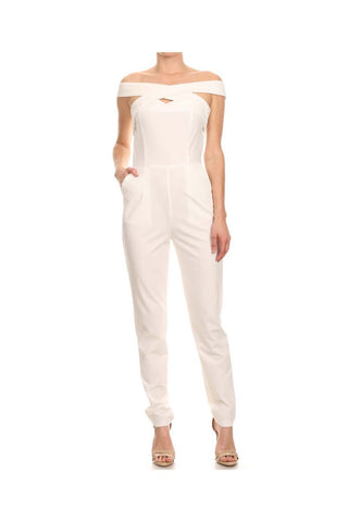 Cross Shoulder Jumpsuit