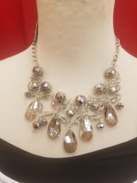 Rebecca Ray Silver Jewel Necklace
