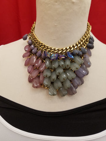 Rebecca Ray Gold Multi Color Necklace