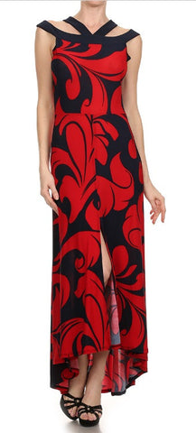 Capped Maxi Dress