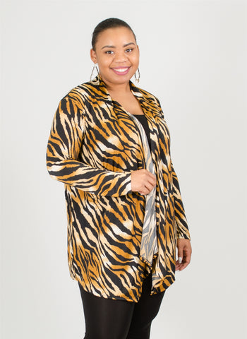 Ella Samani Animal Print Jacket Plus