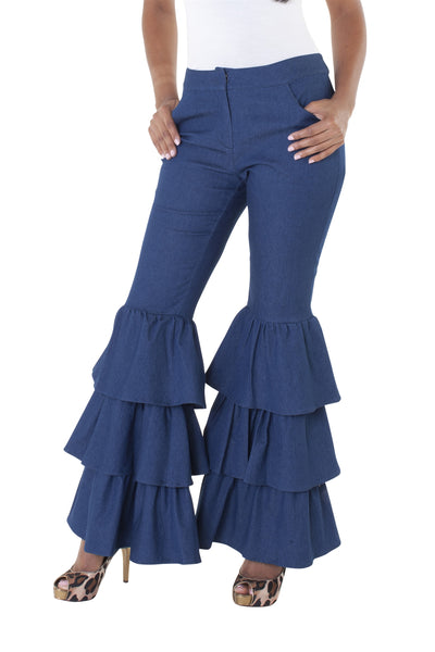 For Her Tier Bell Bottom Pant