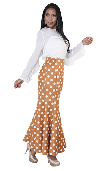 For Her Polka Dot Mermaid Skirt